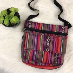 Colorful Striped Purse Crossbody Bag